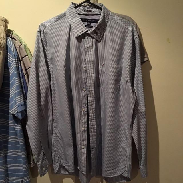 Tommy Hilfiger Striped Button Up