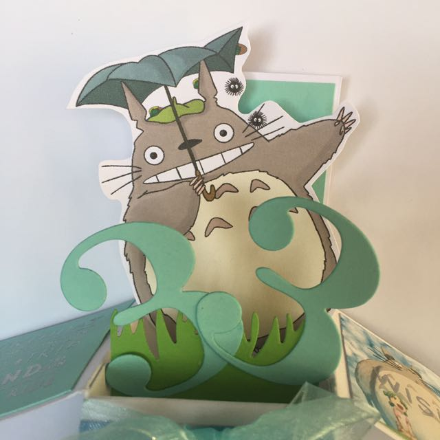 Totoro Birthday Box Card In Tiffany Design Craft Others On Carousell