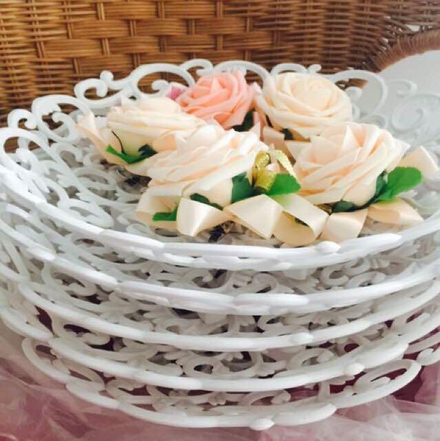 Trays-wedding Flowers-white Trays-wedding Ring Tray