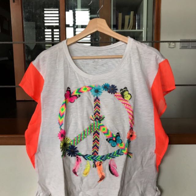 tween peace blouse shirt by justice