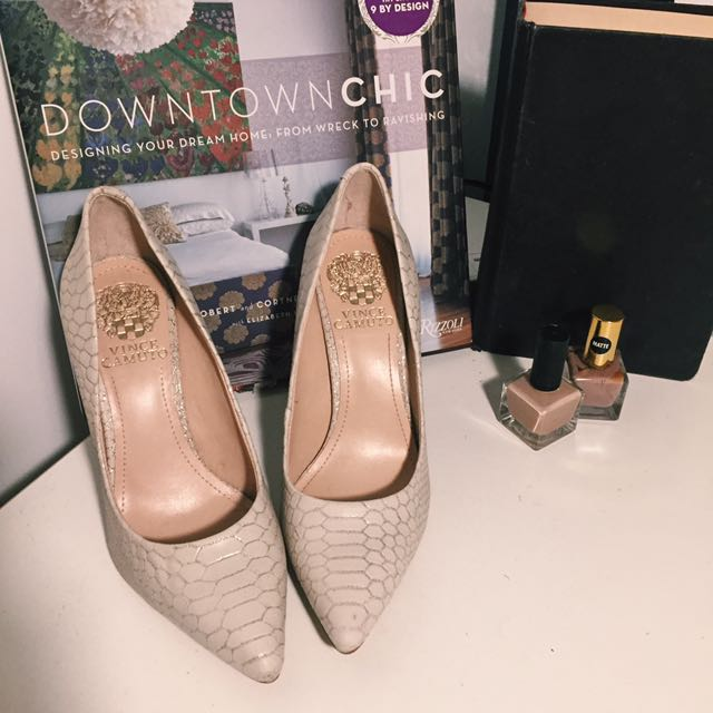 Vince Camuto Cream Coloured Lighty Sparkled Heels