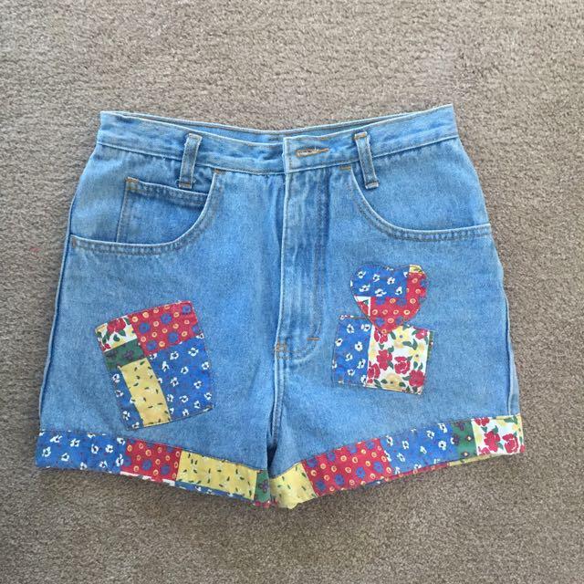 Vintage Shorts Patchwork