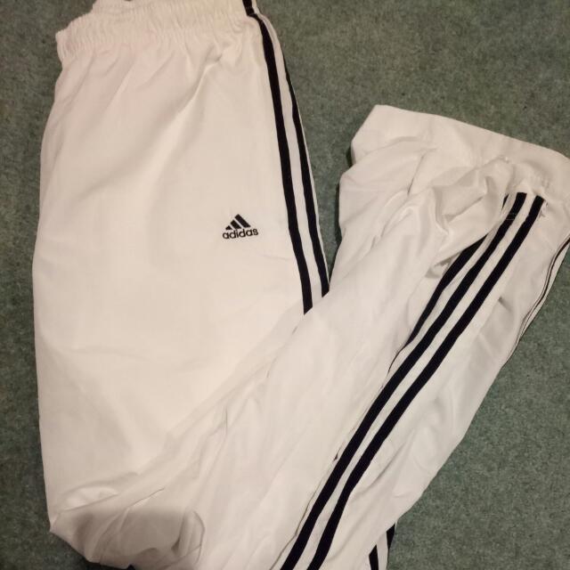 White Adidas Trackies