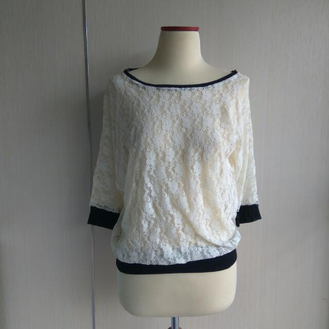 White Lace Top Outer