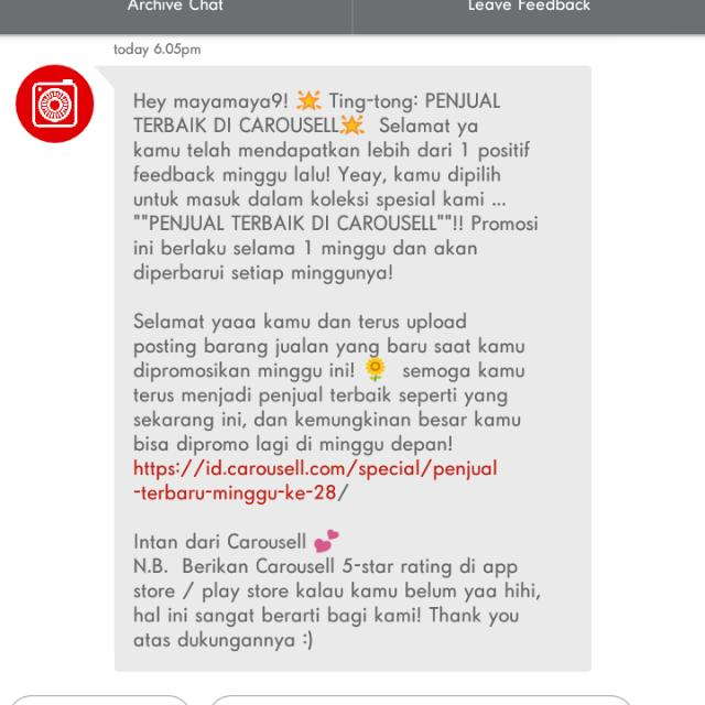 Yeayy Thanks Carousell 🙏🙏 For The 3rd Times Hehehehe😊😊😊