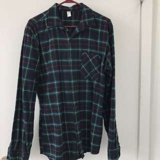 American Apparel Tartan Flannel With Pocket