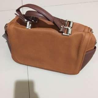 ZARA BROWN BOWLING BAG (JUAL RUGI)