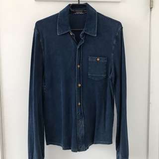 TOPMAN Jean Button Up With Pocket