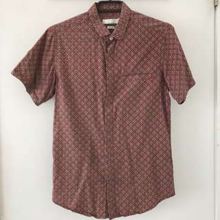 TOPMAN Short Sleeve Button Up With Pocket