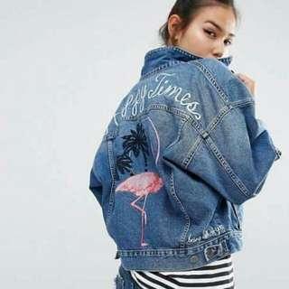 🌸 Embroidered Denim jacket