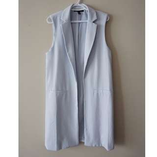 FOREVER 21 Powder Blue Longline Vest