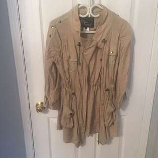 NEVER WORN: Cotton 3/4 Sleeve Jacket