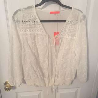 NEVER WORN: Embroidered Blouse