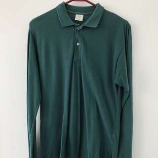 American Apparel Pique Long Sleeve Polo Shirt