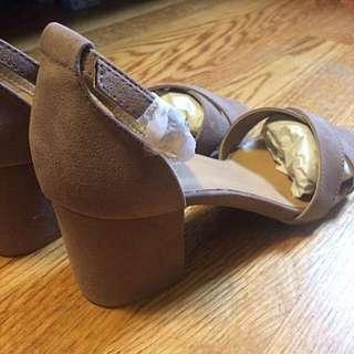 Taupe Block Heel