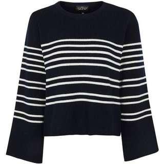 TOPSHOP Wide Sleeve Stripe Knitted Jumper