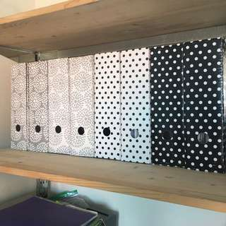 Minimal Polka Dots Black And White File Holder Magazine Files