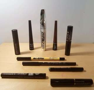 Eyeliners, mascara and more...