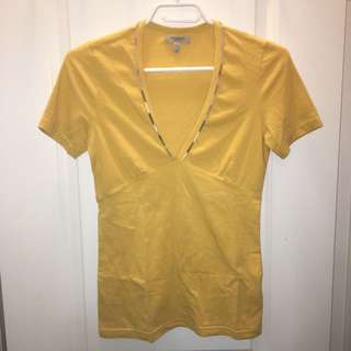 BURBERRY LONDON V-Neck T-Shirt Size XS