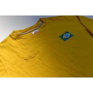 * Mens Umbro Brazil Longsleeve Football Shirt Size M