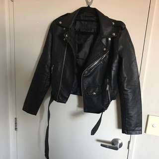Faux Leather moto jacket Inclu POSTAGE
