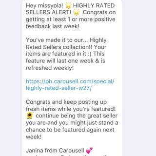 High Rated Seller. Thank you Carousell!✨🌟