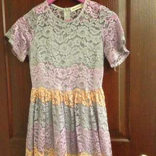 HQ Pastel Lace Dress
