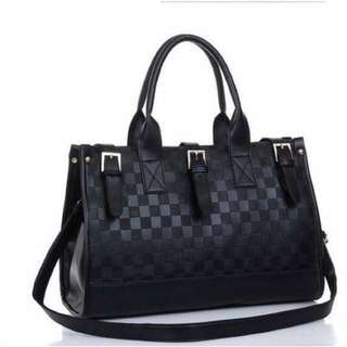 Sale Off ! BrandNew fashion black leather handbag