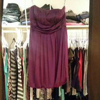 Med Purple Party Dress