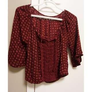 cropped blouse (xs)