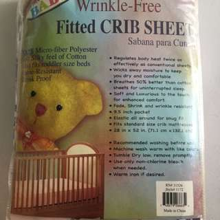 Wrinkle Free Fitted Crib Sheets