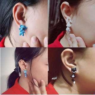 Animal Clay Earring
