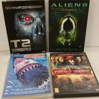 DVD外語片10隻全部有中文字幕,播放正常不散賣。