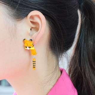 Garfield Clay Earing