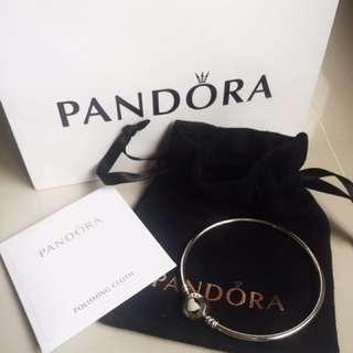 Pandora Moments Silver Bangle