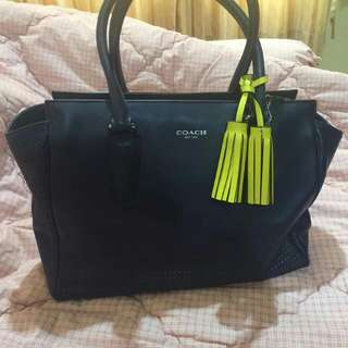 COACH Legacy Candace (Medium) Perforated Leather Carryall