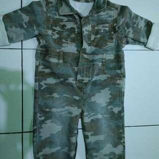 Army Jumper, For 3-4 Years Old Tergantung Besar Anak