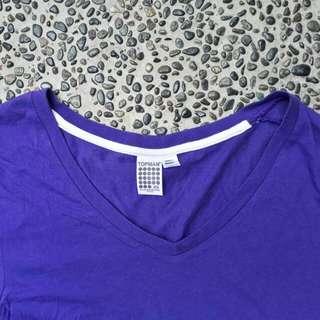 TOPMAN Purple V-neck