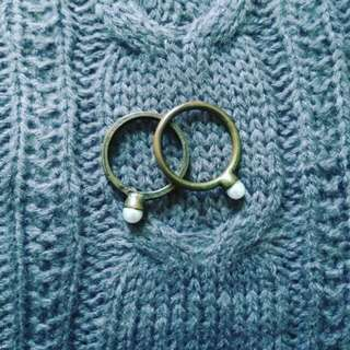 Two Pearl Rings