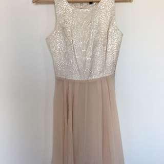 Metallic Print Dress - S