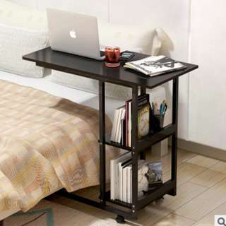 Simple and Neat Movable Bed Table (Dark)
