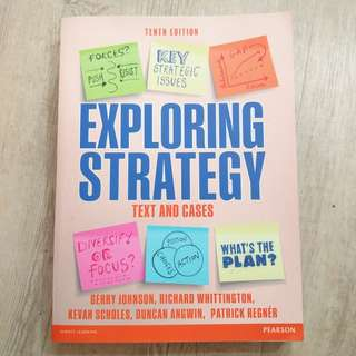 Exploring Strategy Text & Cases (Tenth Edition)