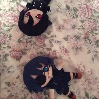 Black butler plushies