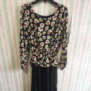 Terusan Gaun Dress Floral