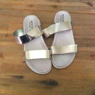Rose Gold Sandals Size 38