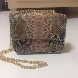 Snake Skin Mini Sling Bag