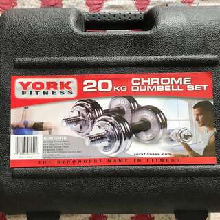 Chrome Dumbell set
