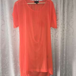 MOOCHI Orange Chiffon Dress