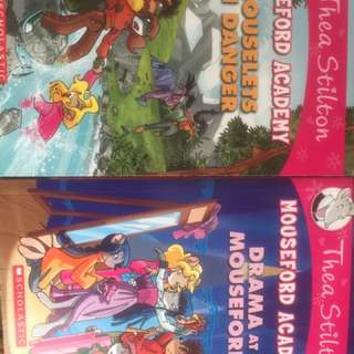 Thea Stilton Mouseford Academy 1 & 3 For Sales At S$10