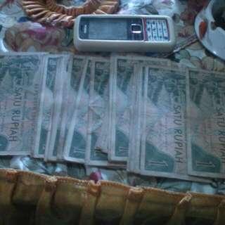 Uang Kuno 1 Rupiah Tahun 1961
